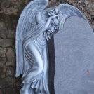 Engel aus Orion, Schriftfläche poliert Engel mit Farbe getönt.