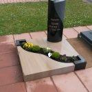 Grabmal aus Indisch Black und Mocca Quarzit auf dem Friedhof in Maximiliansau.